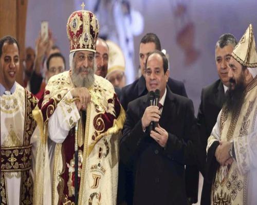 السيسي يشارك الاقباط فى الإحتفال بعيد السيد المسيح