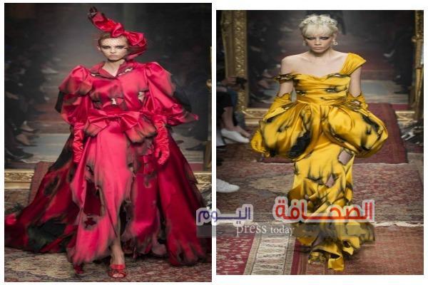 """النيران تلتهم أزياء """" Moschino """" فى أسبوع الموضة بميلانو"""