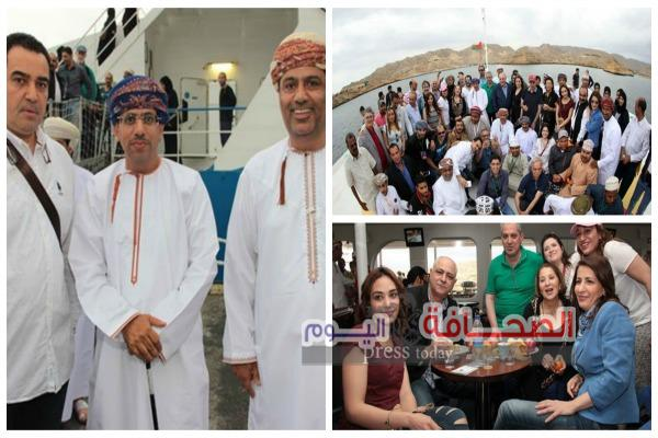 رحلة بحرية  لضيوف مهرجان مسقط السينمائى .. بحضور وزير الاعلام