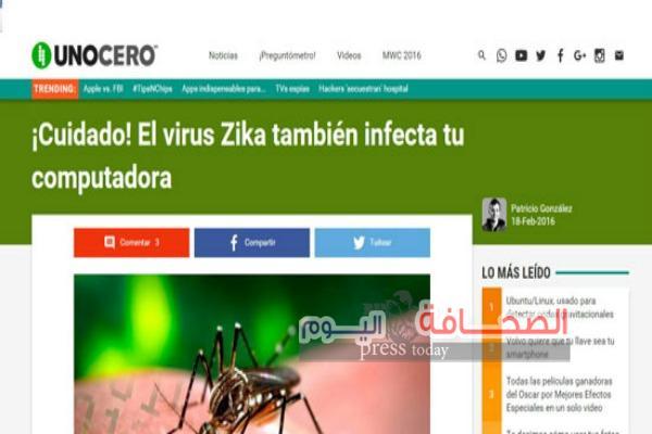 """فيروس """"زيكا """"يصيب أجهزة الكمبيوتر"""