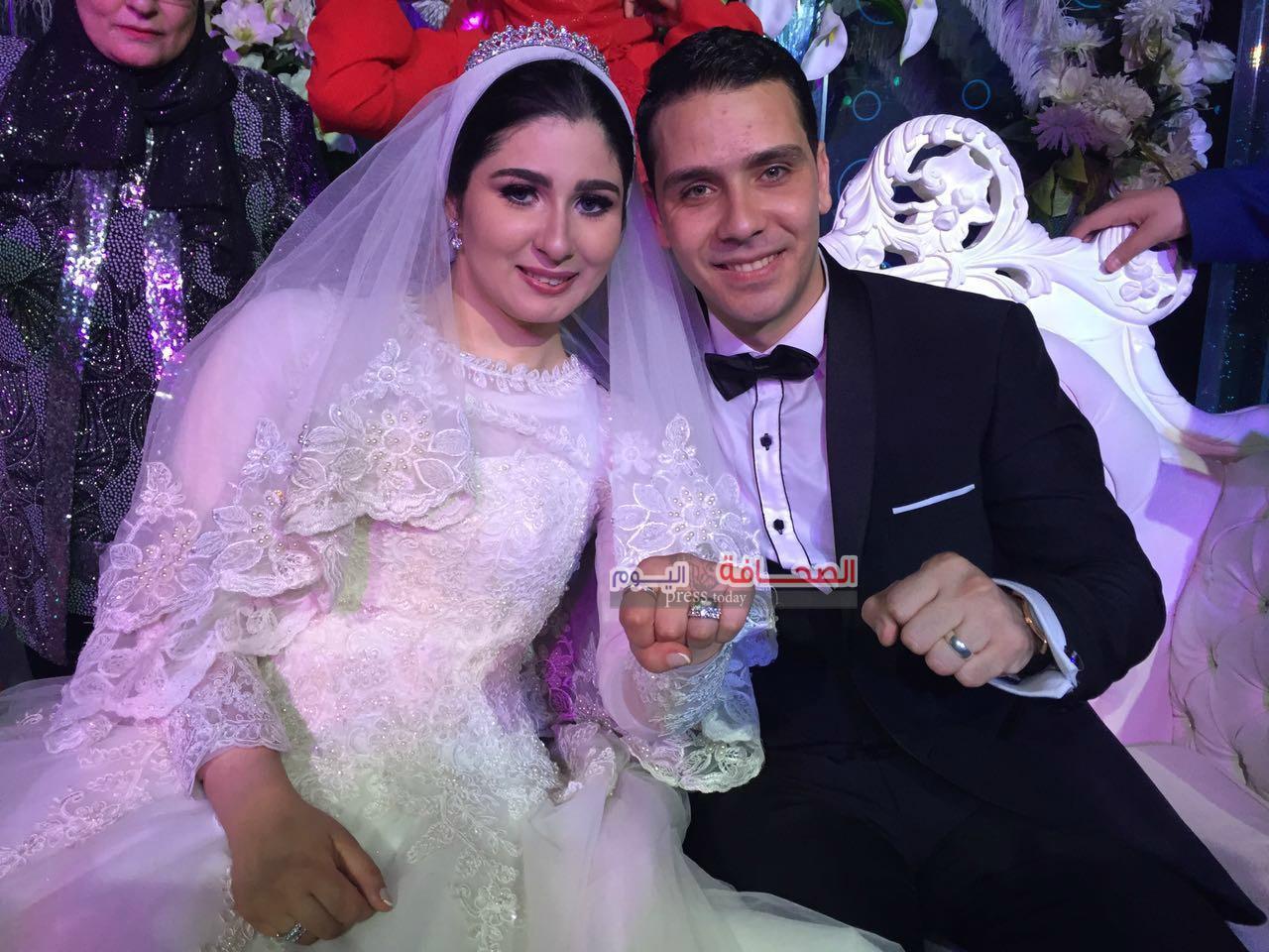 """بالصور :  فريق """"8%"""" يحيى حفل زفاف """"أحمد وهدير"""""""
