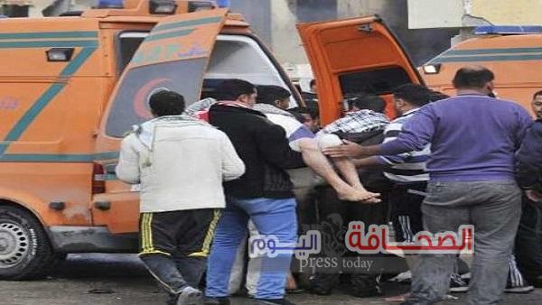 بالصور : نجاة 5 أشخاص سقط بهم المصعد من الدور11