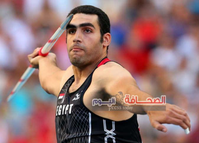 ايقاف ايهاب عبد الرحمن بطل رمي الرمح لثبوت تعاطيه المنشطات