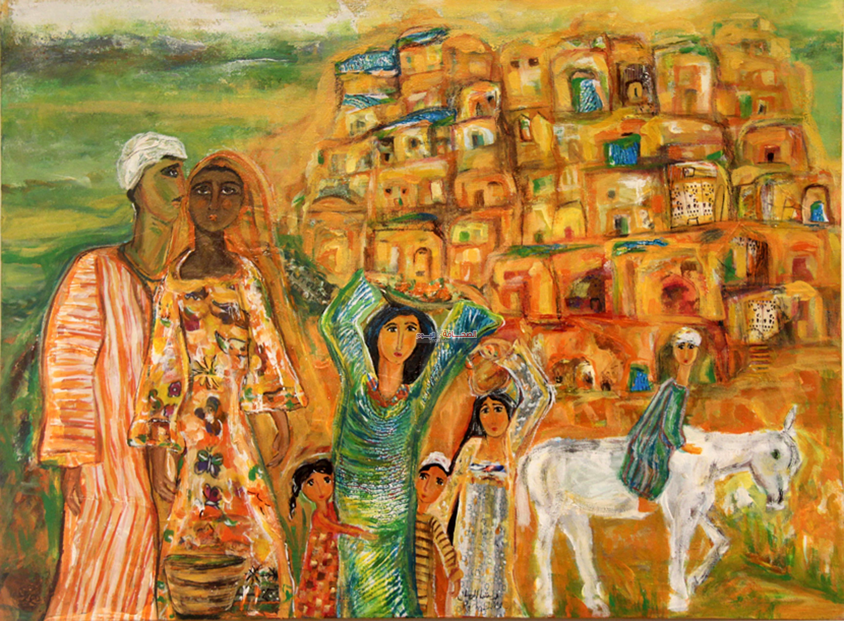 """بالصور : """"مراسيل الحب"""" معرض للفنانة رشا المازن"""