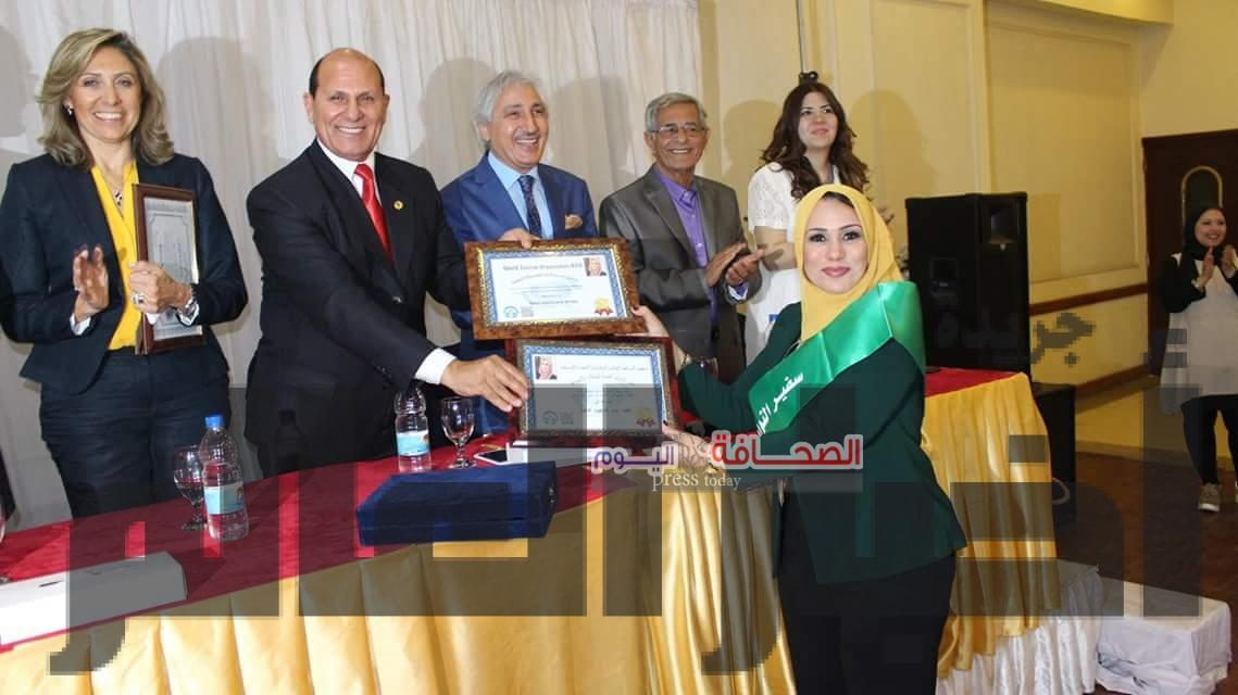 الدكتوراه الفخريه لنفين الكيلانى وناهد  وسمير سفراء للنوايا الحسنة