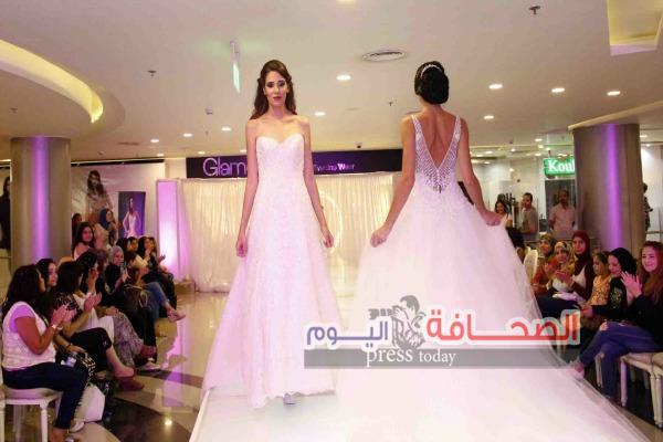 04a2d9260 بالصور :عرض أزياء فساتين الزفاف بجلامور – الصحافة اليوم