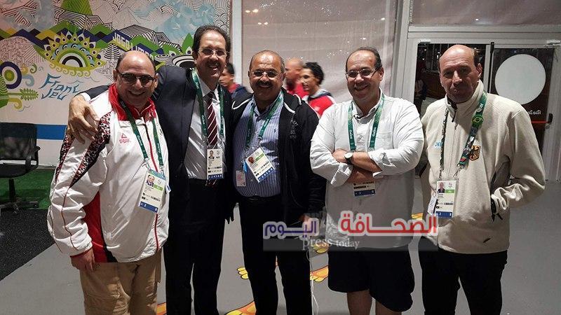 المهندس هشام حطب يلتقي برئيس اللجنة الأولمبية الجزائرية