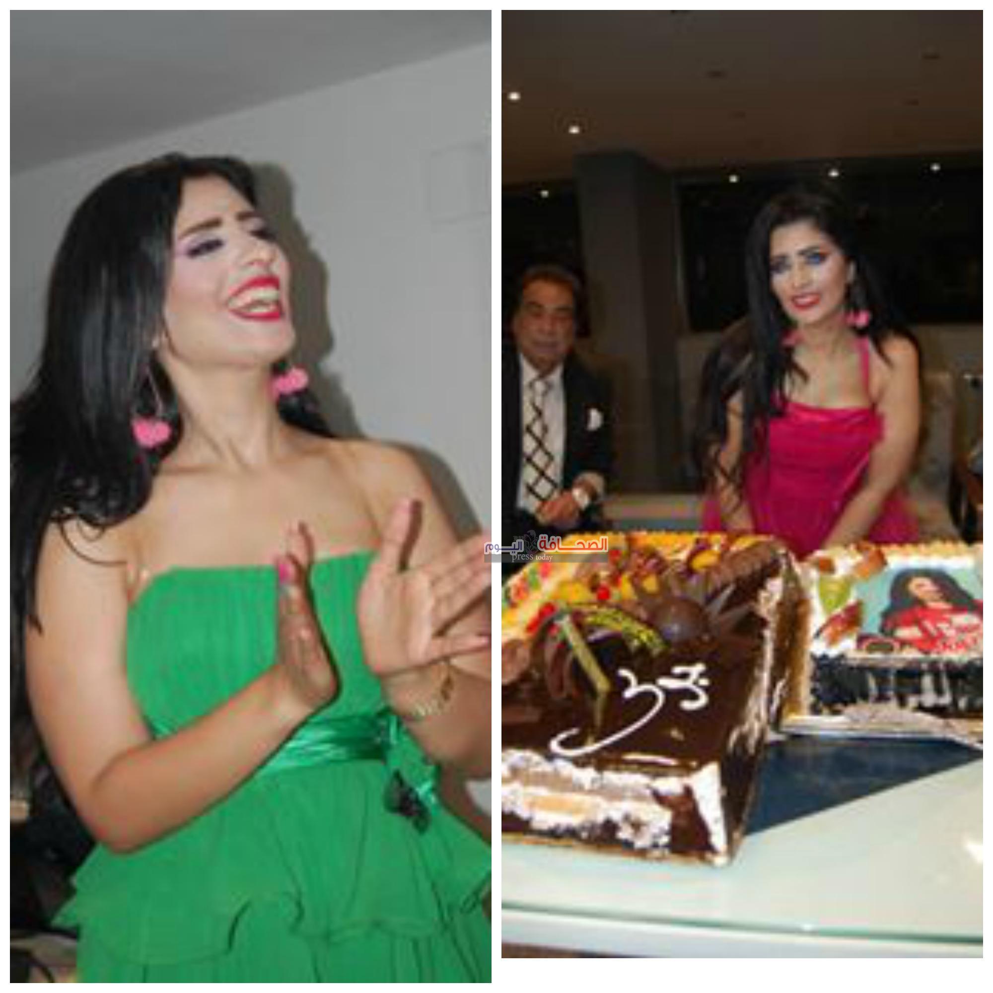 بالصور : المطربة اللبنانية جوليا تحتفل بعيد ميلادها