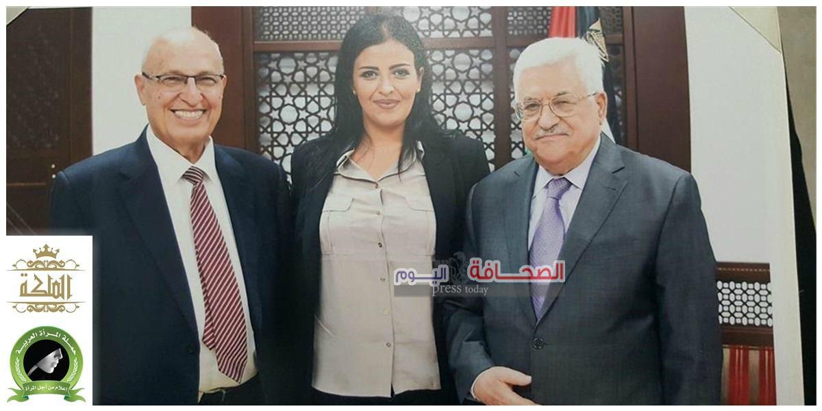 الرئيس محمود عباس يشيد ببرنامج الملكة التلفزيوني