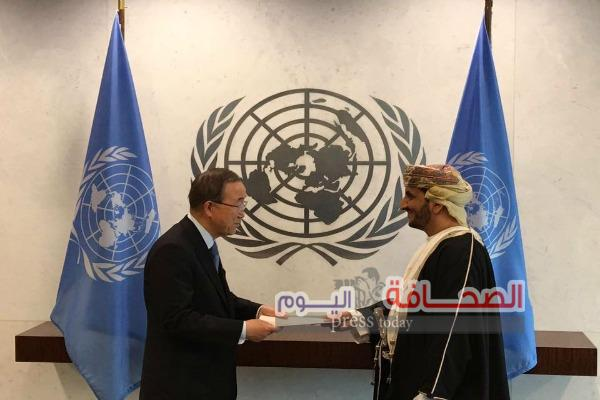 """""""الحارثى """"يقدم أوراق إعتماده كمندوب دائم للسلطنة بالأمم المتحدة"""