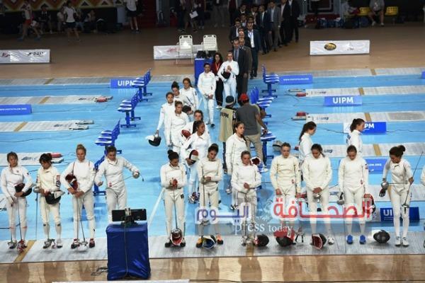 كوريا تتصدر المنافسات في نهائي بطولة العالم للخماسى الحديث