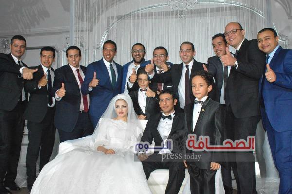 بالصور ..  زفاف المستشار أحمد غلاب وهند ياسر بحضور قيادات القضاء