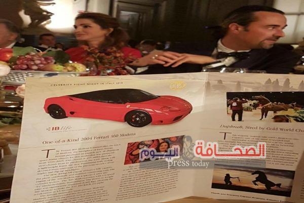"""بالصور """"فيرارى """"شاليمار الشربتلى  تباع بـ 220 ألف يورو لصالح الأعمال الخيرية"""