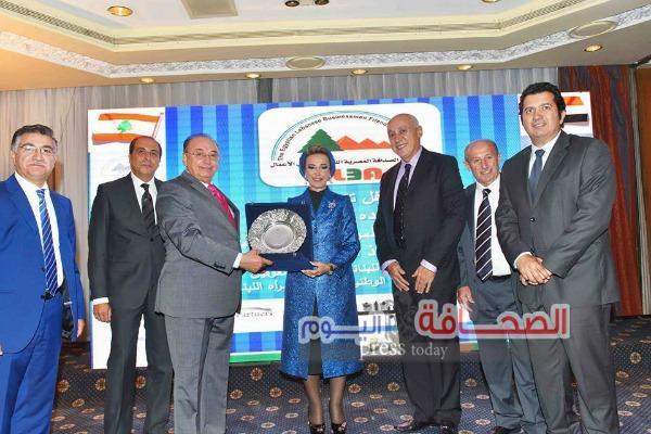 بالصور.. حفل تكريم قرينة رئيس مجلس النواب اللبنانى لدعمها للمرأة العربية