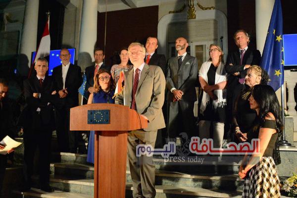 بالصور . حفل تكريم سفير الإتحاد الأوربى بحضور وزراء وسفراء