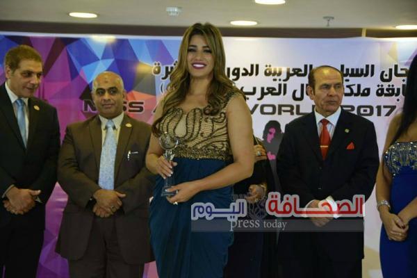 """بالصور.. تكريم """"هايدي موسي"""" في حفل ملكة جمال العرب مصر"""