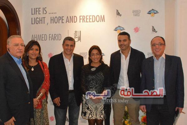 """بالصور ..نجوم الفن فى  إفتتاح معرض"""" الحياة هى النور الأمل والحرية"""""""
