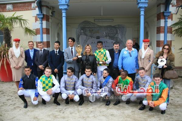 بالصور : تألق خيول منصور بن زايد في فرنسا