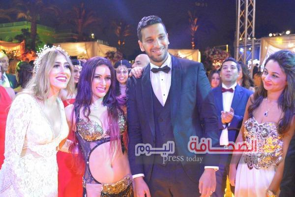 بالصور ..  زفاف رجل الأعمال إسلام حامد و فاطيما سعد