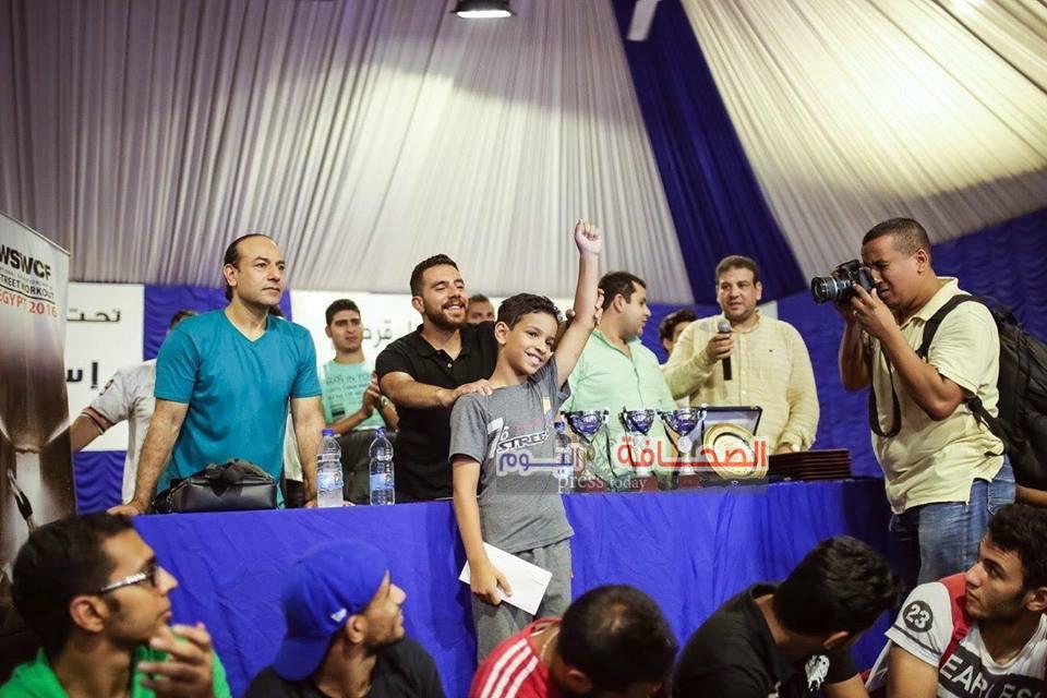 تكريم أبطال مصر  على هامش  بطولة «Street Workout»