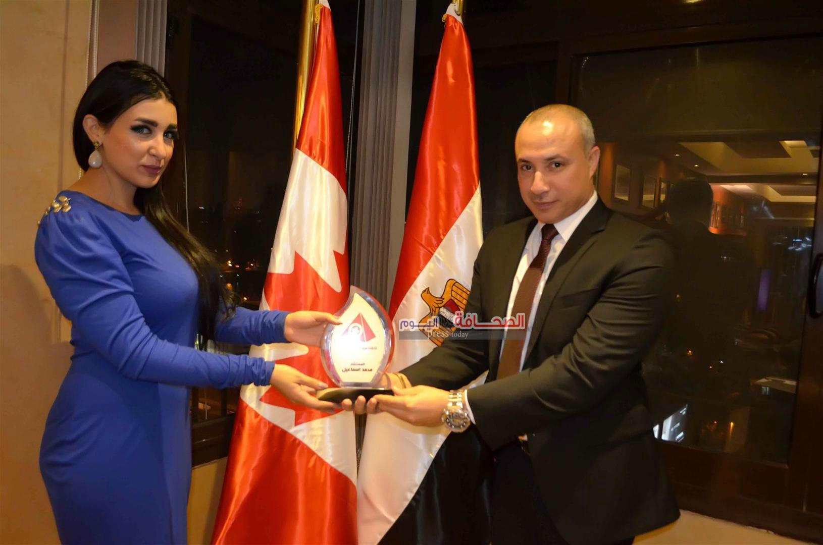 الأكاديميةالكندية تكرم جيهان خليل نجمة arab casting
