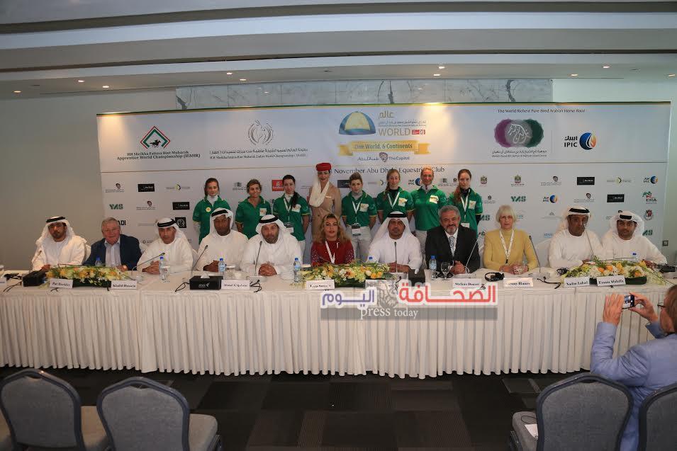 الإعلان عن ختام النسخة الثامنة لمهرجان منصور بن زايد العالمى للخيول العربية الأصيلة