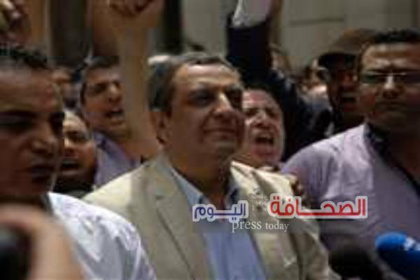 وقفة إحتجاجيه للصحفيين إعتراضآ على حبس النقيب