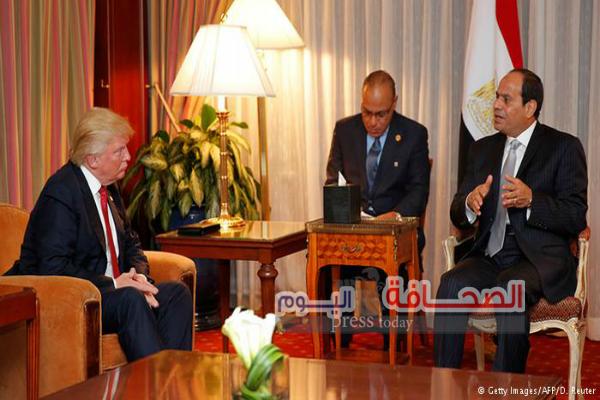 الرئيس السيسي أول زعيم عربى يهنئ الرئيس الأمريكى دونالد ترامب
