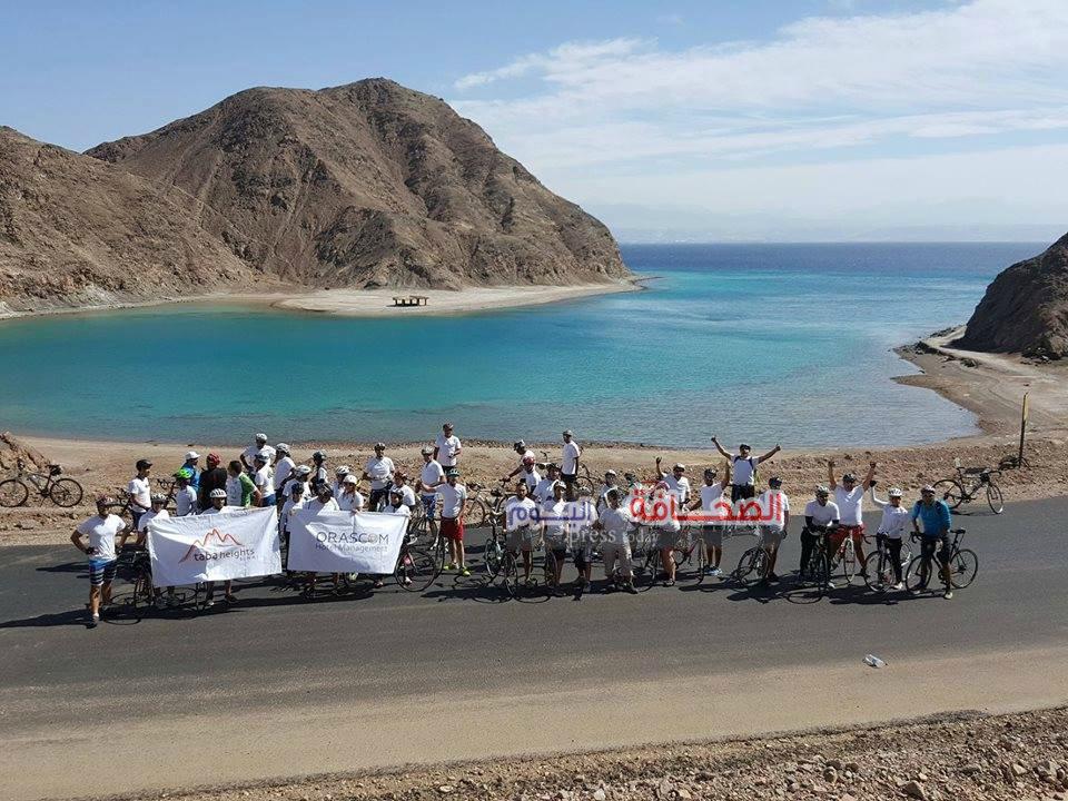 فريق أصدقاء البيئة يدعو للسياحة فى جنوب سيناء بالدراجات