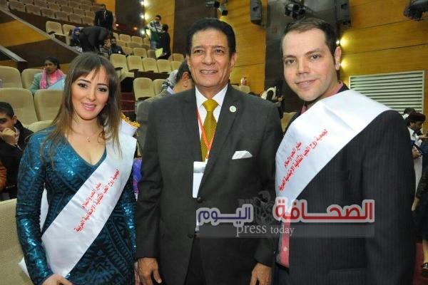 """بالصور .. """"عبد الحافظ وميرنا وسناء"""" أبرز المكرمين فى مؤتمر مصر الحب والسلام"""