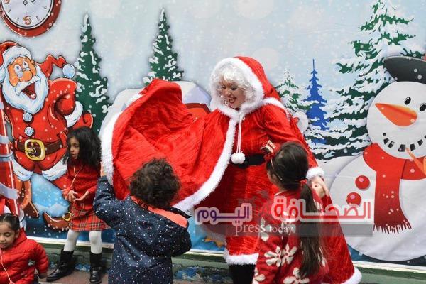 بالصور .. إحتفال أطفال مدارس الزمالك بالكريسماس