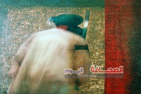 """إفتتاح معرض """"خارج البؤرة"""" للفنان عاطف أحمد بجاليري ضي"""