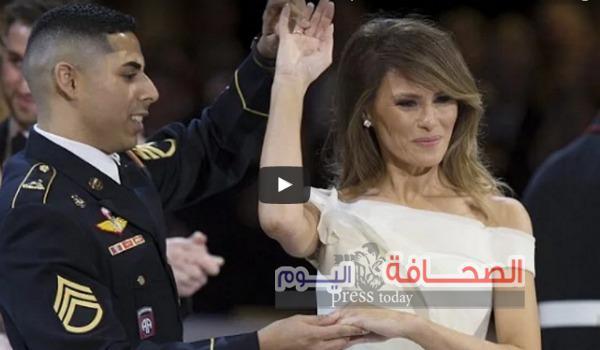 شاهد: مجند يرقص مع زوجة ترامب