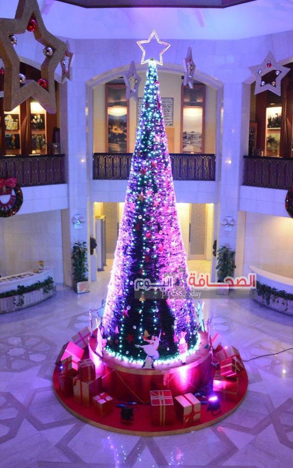 بالصور .. أطول شجرة عيد ميلاد فى بهو دار الأوبرا المصرية