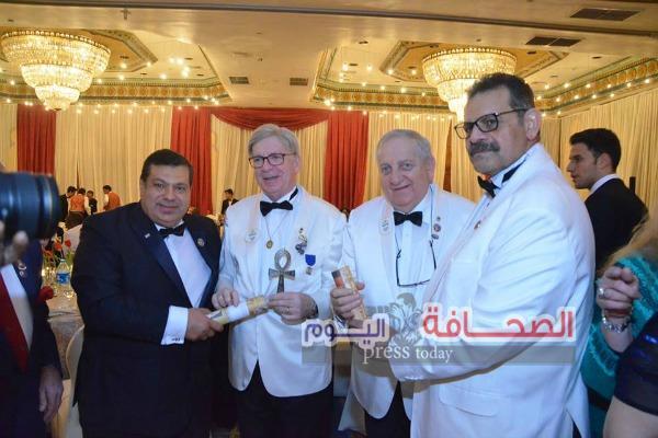 بالصور .. حفل إستقبال الحاكم العالمى لليونز على نيل القاهرة