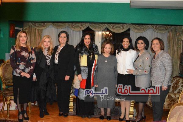 بالصور .. حفل تكريم حرم سفير الكويت بالقاهرة