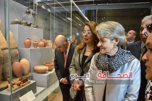 بالصور .. مديرة اليونسكو ووزير الآثار يفتتحان متحف الحضارة بمصر القديمة