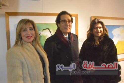 بالصور .. الفنانون والمثقفون فى إفتتاح معرض الفنان فاروق حسنى