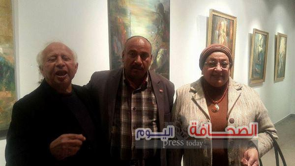 """الوكيل وفايزة وشنودة فى لقاء """"الفن التشكيلى والموسيقى العربية"""""""