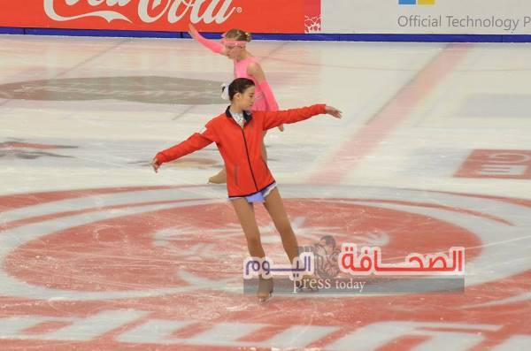 بالصور .. الرقص الإيقاعى على الجليد فى بطولة العالم للالعاب الشتوية بالنمسا