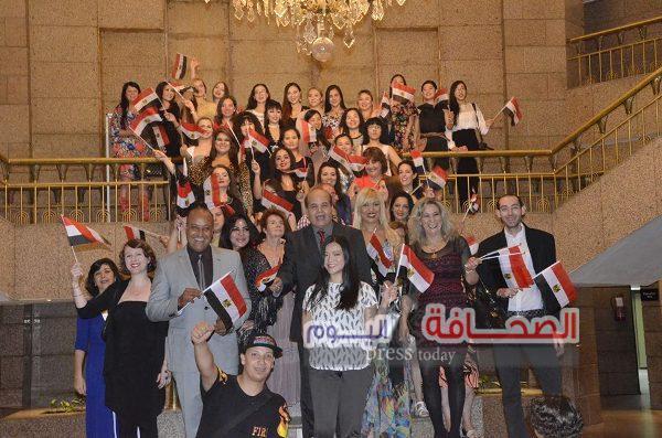 """بالصور .. """"روسيا وجور جيا"""" يتقاسمان جوائز مهرجان الرقص المصرى"""