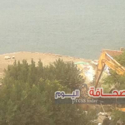 بالصور : حمله لإزالة التعديات على نهر النيل بالقليوبية