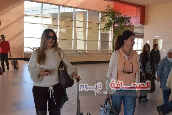 بالصور .. وصول نجوم الفن لشرم الشيخ لحضور مهرجان شرم الشيخ السينمائى