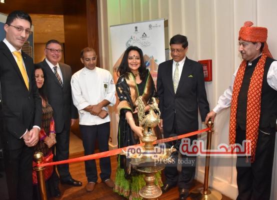 بالصور :سفير الهند يفتتح مهرجان المأكولات الهنديه بالقاهرة