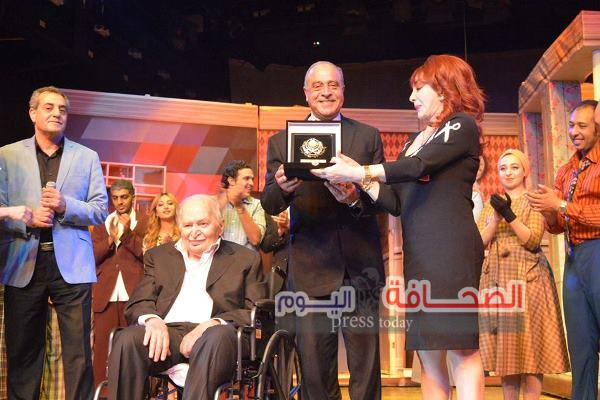بالصور .. تكريم نبيلة عبيد و خفاجى فى حفل الأكاديمية العربية للنقل البحرى
