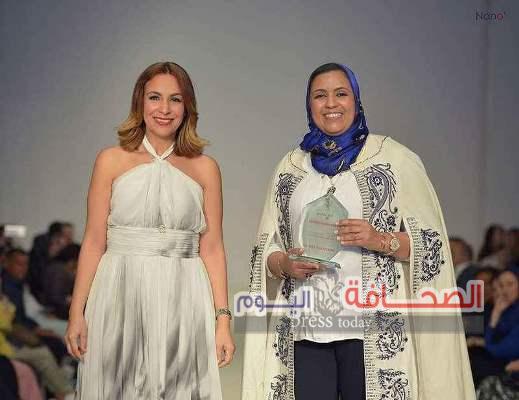 """تكريم مصممة الأزياء """"سليمة """"فى مهرجان قفطانوس الدولي"""