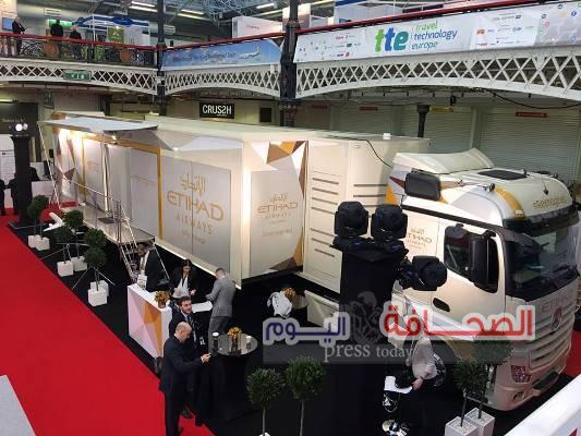 الاتحاد للطيران تُطلق معرضاً متنقلاً مُبْتَكَراً في سوق السفر العربي