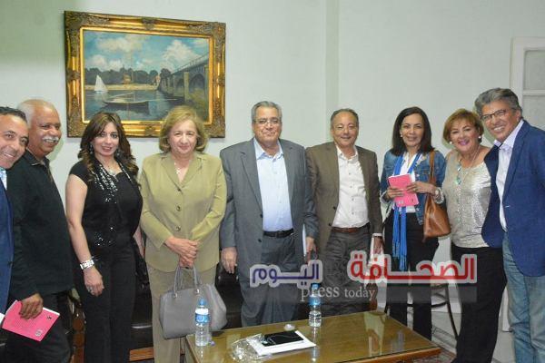 بالصور .. نجوم الإعلام  والثقافة فى حفل توقيع كتاب د. خالد منتصر