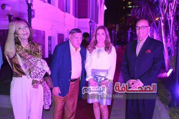 بالصور .. نجوم الصحافة والإعلام فى حفل إفتتاح قصر عائشة فهمى بالزمالك