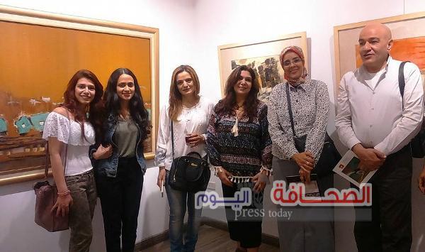 """بالصور :إفتتاح معرض """"لاند سكيب"""" للفنانة أميرة مناح"""